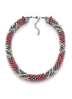 The necklace multicolor pearl silver   nasturtium   off-white buy online -  bonprix. b93926598bf