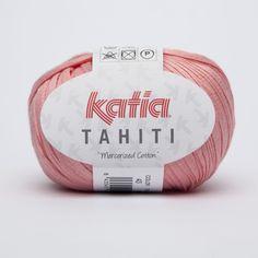 Cinta de algodón 100% peinado y mercerizado de Katia en color rosa