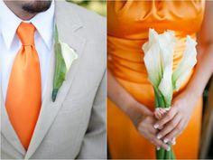 orange wedding - Google Search