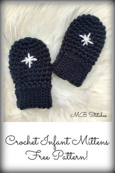 Adorable baby mittens - free pattern!!