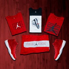 The Jordan Retro 11 #WinLike96 drops tomorrow. Complement your new kicks with legendary looks from the apparel collection. #Jordan #Retro11 #Jumpman