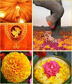 Colours Marigold Inspiration Indian Wedding Decor Drapes #Pinned by Devika Narain