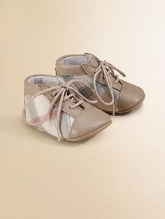 Burberry Infant Check Booties