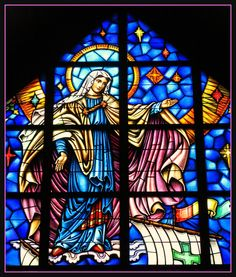 Our Lady Star of the Sea Stained Glass Window