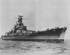 USS Massachusetts, a South Dakota Class battleship originally launched from the Fore River Shipyard in Quincy, Massachusetts in 1941.