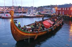 THE largest Viking replica longship in the world arrived in Lerwick harbour overnight after her mast snapped in strong northerly winds southeast of Shetland. The 114 ft Draken Harald H lies alongside Alexandra Wharf – Photo: Ian Leask. Vikings, Sailing, Strong, Boat, World, Boats, Scotland, The Vikings, Candle