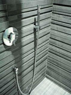 Modern Tiles from Impronta - Porfido and Vibrazioni relief tile designs Corner Sink Bathroom, Hand Towels Bathroom, Bathroom Sink Vanity, Modern Bathroom Tile, Diy Bathroom Decor, Bathroom Ideas, Modern Kitchen Design, Modern Design, Bathroom Tile Designs