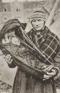 This woman is sapmi / sami woman from Finnish Lapland.