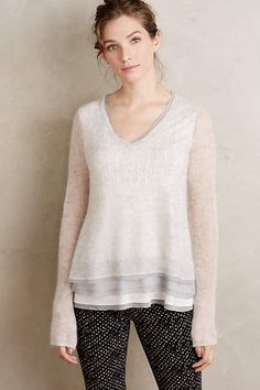 Anthropologie EU Alessia Mohair Pullover by Knitted & Knotted. Inspired by the intimacy and sweetness of an antique charm bracelet, Knitted & Knotted styles are dedicated to those who happily fall under the spell of a pretty detail.