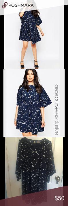 826bf92eceb Asos Curve swing dress in star print Asos Curve swing dress in start print.  Size