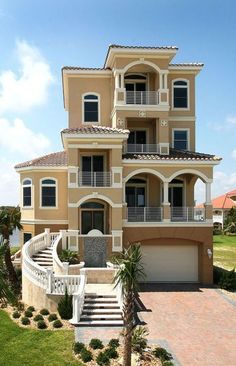 Beautiful Beach Home yes please! [ Waterbabiesbikini.com ] #home #bikini #elegance