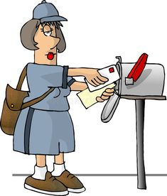 Female mail carrier. This illustration that I created depicts a woman delivering #Sponsored , #Paid, #AD, #mail, #illustration, #woman, #carrier