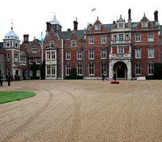 SANDRINGHAM HOUSE NORFOLK ENGLAND ENGLISH COUNTRYSIDE ART PAINTING CANVAS PRINT