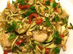 How to Make Shrimp Pad Thai Zoodles Recipe - Snapguide