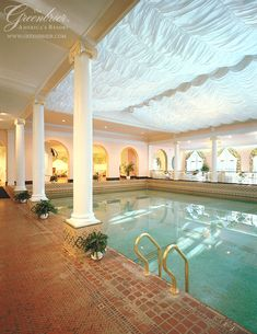 The indoor pool at The Greenbrier, West Virginia