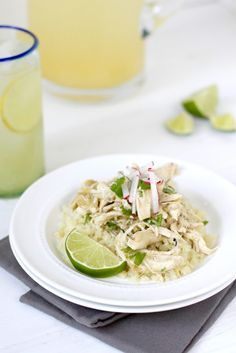Slow Cooker Chicken Chile Verde | 5 ingredients | The Real Food Dietitians | https://therealfoodrds.com/slow-cooker-chicken-chile-verde/