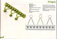 View album on Yandex. Crochet Chain, Crochet Lace, Crochet Stitches, Crochet Patterns, Crochet Boarders, Crochet Decoration, Manta Crochet, Yarn Projects, Crochet Videos