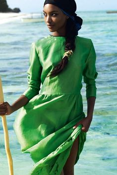 Jourdan Dunn for Vogue March 2011 by Mario Testino