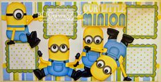BLJ Graves Studio: Our Little Minion Baby Boy Scrapbook Pages