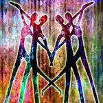 abtract paintings of love, spiritual art