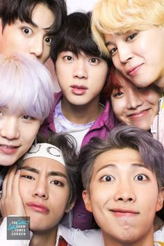 unseen photo of bts on the late late show with james cordon #jungkook #taehyung #v #jimin #namjoon #rm #rapmonster #jhope #hobi #hoseok #yoongi #suga #minyoongi #seokjin #jim #bts
