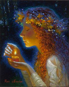 Candlelight by Victor Nizovtsev Oil Paintings and Biography Victor Nizovtsev, Wow Art, Mermaid Art, Angel Art, Faeries, Painting & Drawing, Amazing Art, Fantasy Art, Illustration Art