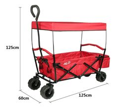 Here we have a Folding Canopy Collapsible Garden Shopping Travel Cart~HLC. Easily haul your gear without breaking your back. Whip out this roll-about ...