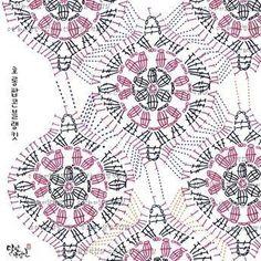 Crochet Bedspread Archives - Beautiful Crochet Patterns and Knitting Patterns Crochet Mandala Pattern, Crochet Motifs, Crochet Blocks, Granny Square Crochet Pattern, Crochet Diagram, Crochet Stitches Patterns, Crochet Squares, Crochet Chart, Crochet Designs