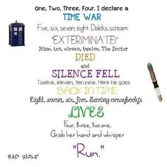1, 2, 3, 4, I declare a Time War.