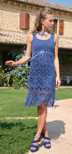 "Dress called ""Anja"" is available as a free crochet pattern for size  40/42."