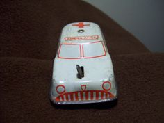 ON SALE Antique Toy Tin Ambulance from the 1950's Great for Restoration or Display for Doctor, Nurse, EMT, Red Cross by consignments on Etsy