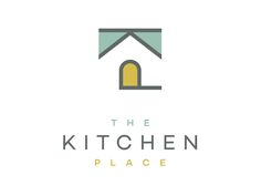 Final logo for The Kitchen Place (Designer: Anderson ) High End Kitchen & Home Remodeling. Real Estate Branding, Real Estate Logo, Typo Logo, Logo Branding, Branding Design, Roofing Logo, Realtor Logo, Luxury Logo, Home Icon