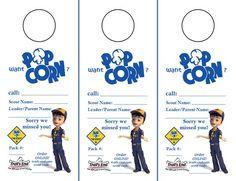 FREE Cub Scout PopCorn Door Hangers!
