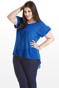 Midnight Train to Georgette Plus Size Blouse