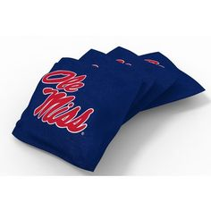 Wild Sports University of Mississippi Beanbag Set Blue - Outdoor Games And Toys, Outdoor Games at Academy Sports