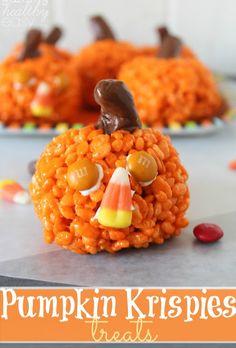 Pumpkin Krispies Treats--cute idea for church fall festival