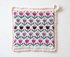 GREITZAN: Sticka en grytlapp med tulpanmönster Baby Knitting Patterns, Knitting Ideas, Crochet Potholders, Drops Design, Pot Holders, Blanket, Inspiration, Crochet Hot Pads, Biblical Inspiration