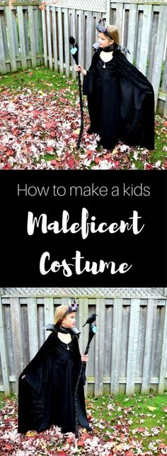 How to make a kids Maleficent Costume (almost no sewing involved!)<br> DIY - Maleficent Costume for Kids