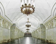 Gallery of These Photographs Capture the Opulent Beauty of Empty Moscow Metro Stations - 5