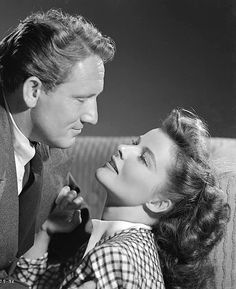 "Katharine Hepburn and Spencer Tracy  ""Woman Of The Year"" 1941"