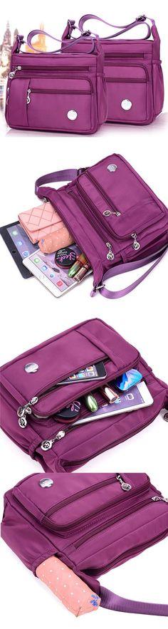 US 15.49 Women Waterproof Light Shoulder Bags Outdoor Sports Crossbody Bags  Shoulder Bags Favelas 57c553880c7ea