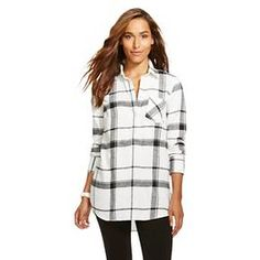Women's Plaid Flannel Favorite Tunic - Merona™