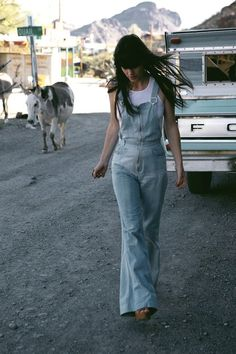 vintage 1970s overalls - we wore tube tops with these more than anything else