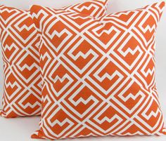 Tangerine Orange Pillow Cover 18x18 inch TWO by DeliciousPillows, $39.00