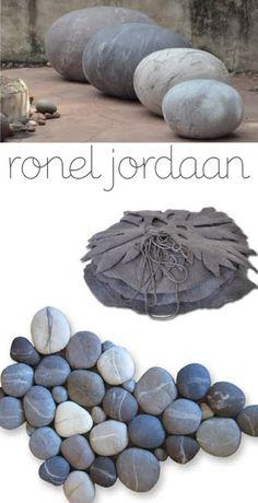 Ronel Jordaan, stenen van vilt en katoen
