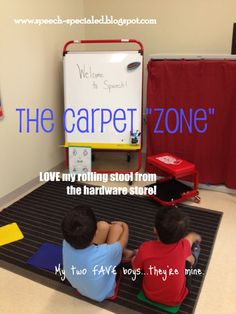 creating zones and reducing visual noise...The Dynamic Duo: Tips for Organizing Small Classroom Spaces & Therapy Rooms