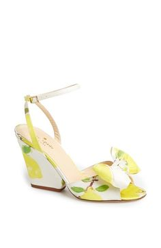 Lemon Kate spade Wedges