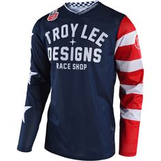Troy Lee Designs 2018 GP Air Americana Navy Jersey at MXstore c36cade35