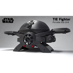 """STAR WARS TIE FIGHTER SW-2201 PORTABLE LP GAS GRILL IN GREAT PRICE AT BBQTEK  Its Features as Below: BTUs: 10,000 Burners: S/S #304 Burner  Cooking Area: 220 SQ. IN (45cmx37.5cm) Construction: Cast aluminum  Product size: 37 in. (W) x 17 5/8""""(D) x 15 ¾ (H)  Main burner: 1PC 304 Stainless Steel Burner  Fire box: Cast Aluminum Ignition system: Electric Igniter  Hood construction: Cast aluminum  Grate: 2 pcs ½ Cast iron grid  Side Shelves: 2 adjustable cast aluminum  X Leg: 2 Cast Aluminum legs…"""