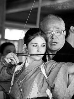 Kyudo. I love the look on her face, you can tell she is concentrating and going to land the target perfectly.